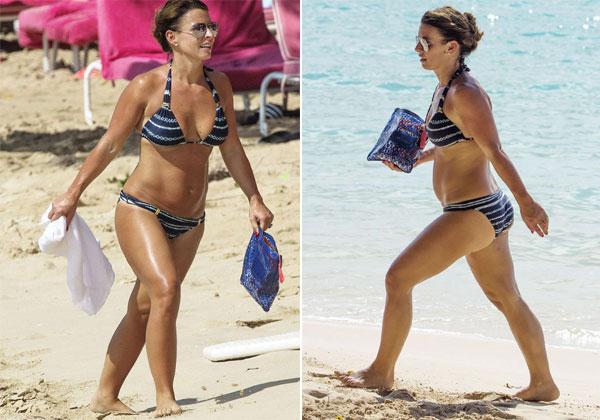 Bà xã Rooney dành cả mùa hè đi nghỉ mát, chơi với con, tạm thời không tới phòng gym nên