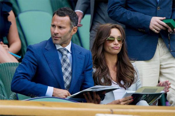 Ryan Giggs và vợ cũ Stacey Cooke khi đi xem Wimbledon năm 2012.