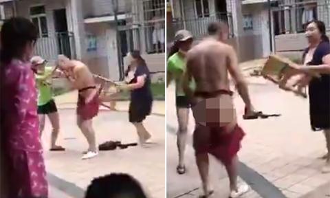 Vợ cùng bồ nhí hợp sức vào đuổi đánh, xé quần chồng