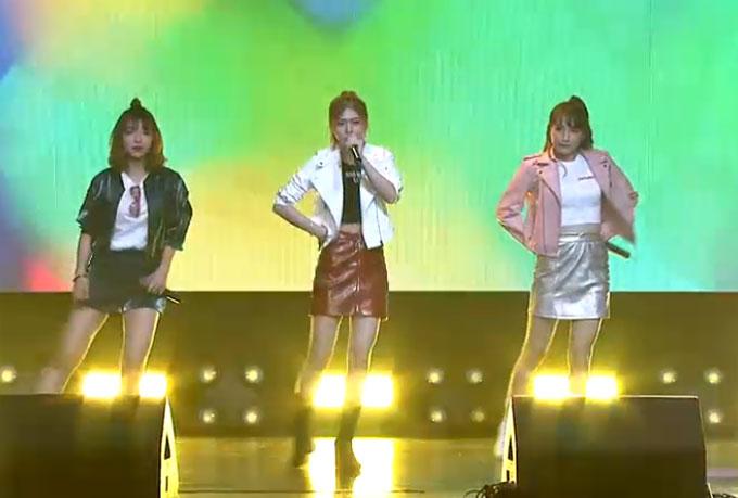 Sau Monstar, RBW Boys, ba cô gái của nhóm Lime chào khán giả bằng ca khúcPart of me