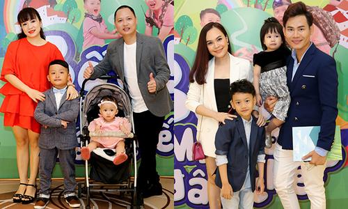 Nhạc sĩ Nguyễn Hải Phong, MC Hồng Phúc hiếm hoi đi sự kiện cùng vợ con