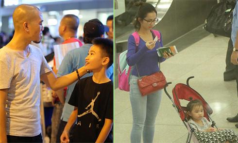 Chồng cũ ra sân bay đón Kim Hiền và hai con về nước lúc nửa đêm