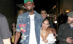 Vợ sắp cưới mặc nóng bỏng đi chơi đêm cùng Usain Bolt