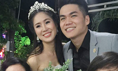 Lê Phương rạng rỡ bên chồng kém 7 tuổi trong lễ cưới ở Bình Thuận