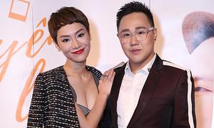 'Gái một con' Trà My mặc sexy đến mừng Trung Quân Idol