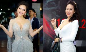 Phi Huyền Trang mặc sexy, lấn át Phi Thanh Vân trong sự kiện