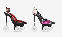 Giày cao gót kiêm patin - ý tưởng 'điên rồ' đậm chất Saint Laurent