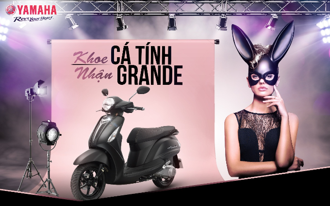 Chụp hình như Ariana Grande, 'rinh' Yamaha Grande về nhà