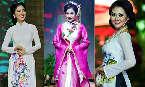 Việt Trinh, Ngọc Lan, Quỳnh Lam duyên dáng trên sàn diễn