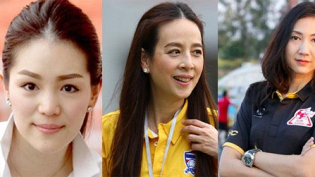 Ba nữ lãnh đội tài sắc của làng bóng đá Thái Lan.