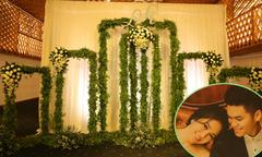 Không gian tiệc cưới ấm cúng của Lê Phương và ông xã kém 7 tuổi