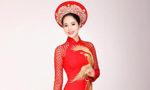 Dương Kim Ánh đẹp nền nã với áo dài cưới