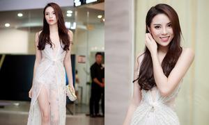 Kỳ Duyên chân dài quyến rũ trong sự kiện ở Hà Nội