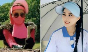 Phạm Băng Băng bịt mặt như ninja khi ghi hình dưới trời nắng