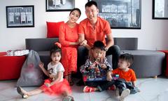 Chồng và 3 con theo Ốc Thanh Vân đi làm ngày cuối tuần