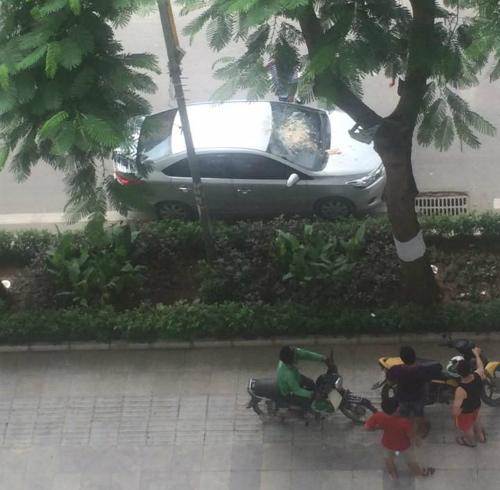 Dân chung cư ném rác từ tầng cao, vỡ kính xe ôtô