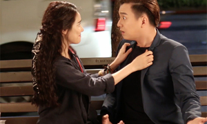 Nhã Phương sợ đóng cảnh hôn với Ngô Kiến Huy
