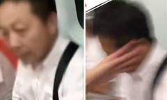 Ăn tát liên tiếp vì chạm vào 'bà cô' trên tàu điện ngầm