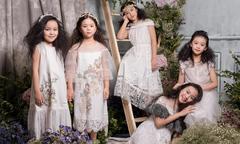 Váy ren trắng mộng mơ dành cho bé gái