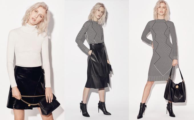 Chất liệu len trong thiết kế áo cổ lọ hay đầm liền giúp bạn toát lên vẻ sang trọng, nhã nhặn. Nếu bạn chuộng tối giản thì màu trắng, xám hoặc đen là sự lựa chọn cho phong cách đơn sắc hiện đại.