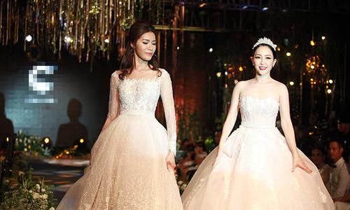 Linh Nga và Minh Tú lần đầu cùng nhau trình diễn áo cưới
