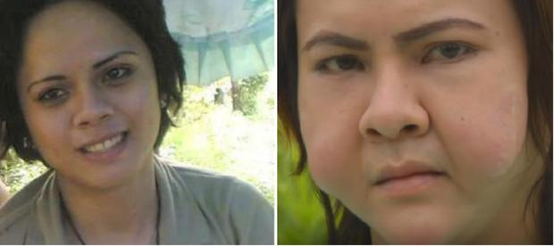 Khuôn mặt của Nina biến dạng nhẹ nhất trong số 3 người.