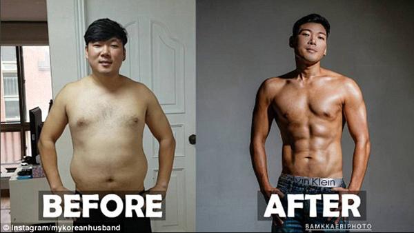 Thay đổi chế độ ăn uống và tích cực tập luyện đã giúp Hugh Gwon giảm được 23 kg chỉ sau 6 tháng.