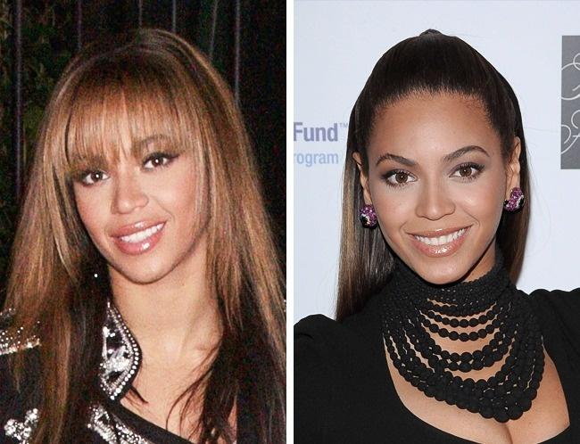 Beyonce mất đi quá nửa vẻ quyến rũ khi để tóc mái bằng lưa thưa.