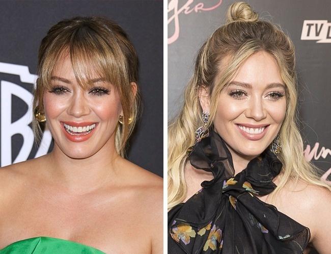 Những cô nàng có gò má cao như Hilary Duff không hợp với tóc mái bằng.