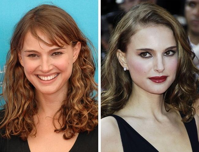 Natalie Portman để tóc mái lệch bên trông sang trọng và quý phái hơn hẳn.