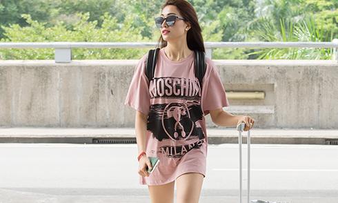 Á hậu Lệ Hằng sang Malaysia cổ vũ đoàn Việt Nam tại SEA Games