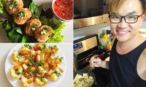 Rằm tháng 7, học MC Đại Nghĩa nấu đủ món chay ngon và thanh đạm