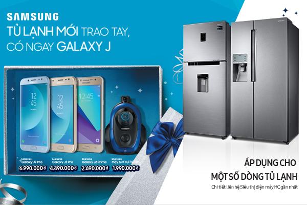 Mua tủ lạnh Samsung, tặng điện thoại Galaxy J.