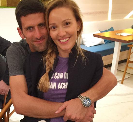Djokovic và bà xã Jelena Ristic