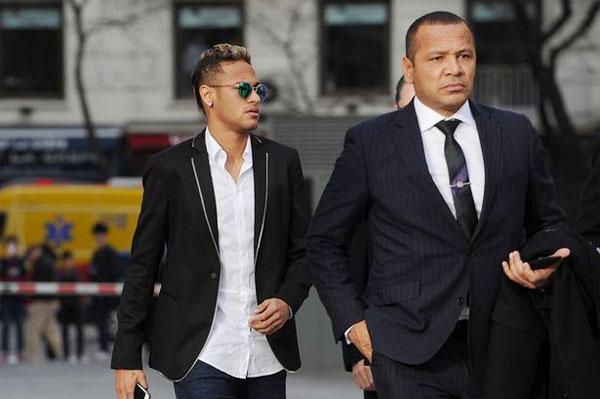 Neymar và bố, ông Santos Sr