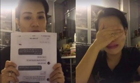 Vợ Xuân Bắc vừa khóc vừa livestream 'tố' bị đồng nghiệp của chồng chèn ép