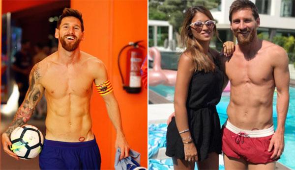 Messi xăm đôi môi đỏ rực của bà xã Antonella