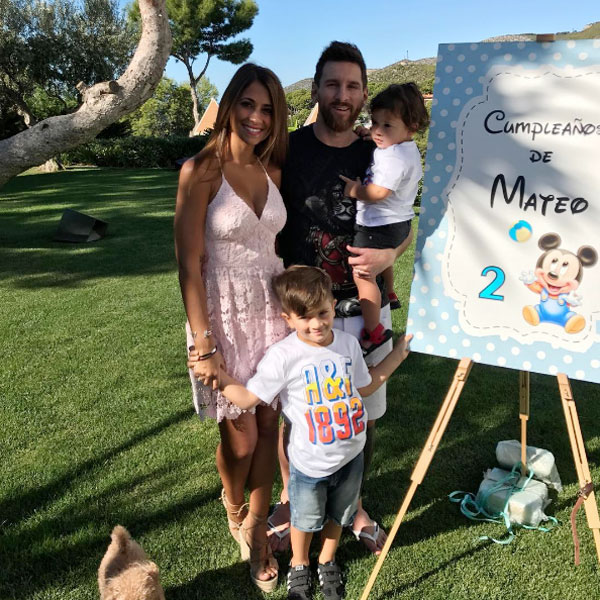 Vợ Messi đang mang bầu em bé thứ ba