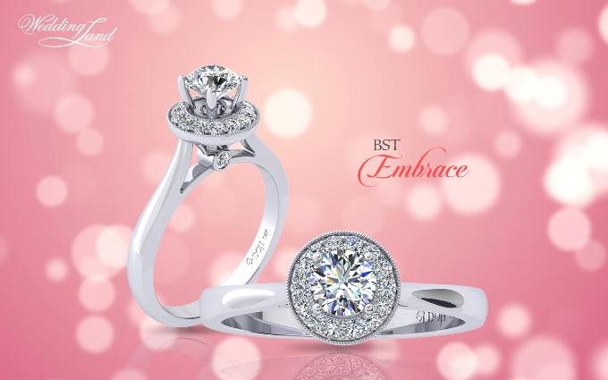 Cầu hôn nửa kia với nhẫn kim cương DOJI
