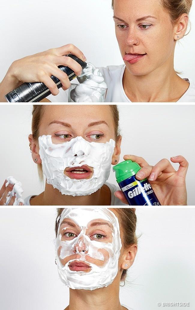 Tẩy thế bào da chết bằng bọt cạo râu và đường không hợp với những người có làn da mụn hay da nhạy cảm.