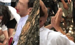 Chồng đòi kiểm tra điện thoại vì nghi vợ ngoại tình, người dân xông vào đánh