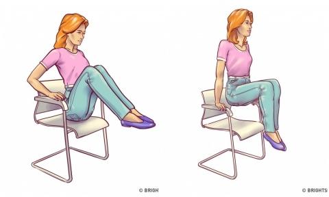 6 động tác đơn giản chỉ với một chiếc ghế giúp vòng eo thon thả