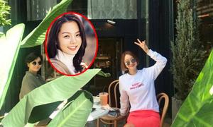 Bà bầu Chae Rim hiếm hoi lộ diện