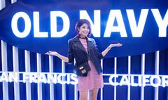 Đàm Phương Linh mix đồ cá tính dự khai trương cửa hàng Old Navy