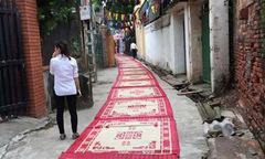Khánh thành nhà thờ ở Vĩnh Phúc, trải 70 chiếc chiếu làm thảm đỏ