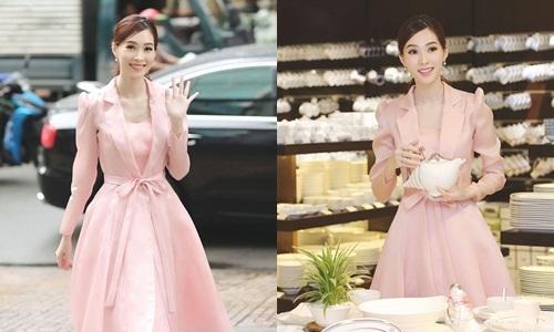 Hoa hậu Đặng Thu Thảo tất bật đi xem đồ gia dụng cho gia đình