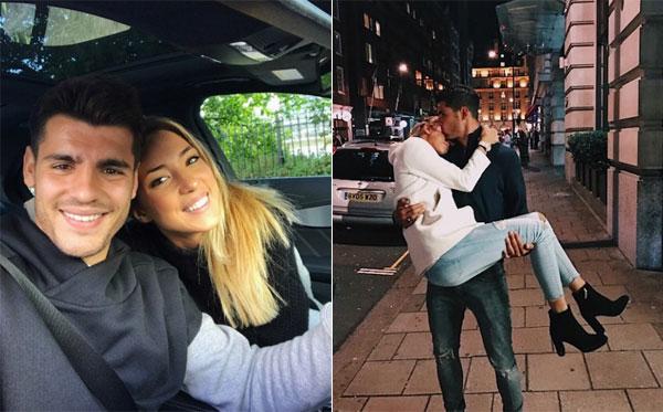 Vợ chồng Morata thường xuyên khoe khoảnh khắc lãng mạn, ngọt ngào