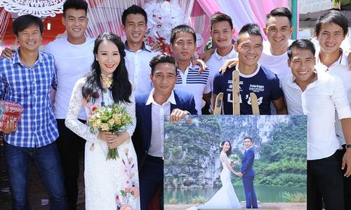 Dàn sao CLB Long An đến chung vui với đội trưởng Tài Lộc