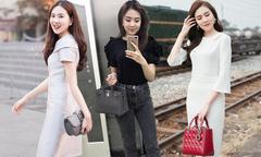 'Cô gái thời tiết' Mai Ngọc và bộ sưu tập túi hiệu hoành tráng