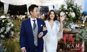 Bầu 6 tháng, mỹ nhân 'Vườn sao băng' xinh tươi rạng rỡ khi diện váy cưới
